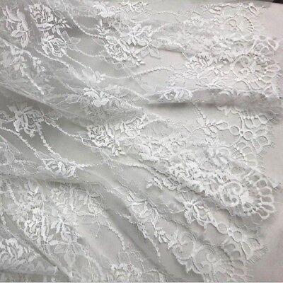 Blue ricamo pizzo Abito da sposa bordatura con filo Abito da sposa in tessuto fai da te 1 M