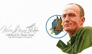 Kenny-Fields-Signed-Cut-Signature-GOE-Lithograph-Ling-Temco-Vought-A-7A-Corsair