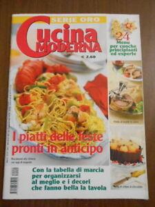 Cucina Moderna Serie Oro.Dettagli Su Cucina Moderna Serie Oro N 22 2003 I Piatti Delle Feste Pronti In Anticipo