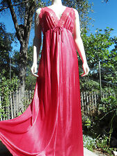 VINTAGE J C PENNEY LACE TRIMMED LONG NYLON SISSY UNION LABEL NIGHTGOWN SZ MED