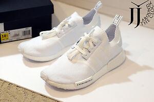 6fe83f6c58a15e New Adidas NMD R1 PK Japan Triple White Nomad Primeknit BZ0221 SIZE ...