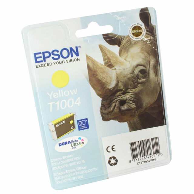 ORIGINAL T1004 YELLOW INK CARTRIDGES FOR EPSON PRINTERS - NO BOX - CLEARANCE