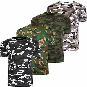 New-Mens-Military-Camouflage-Camo-T-Shirt-Army-Combat-Tee-Summer-Beach-AW19-Top