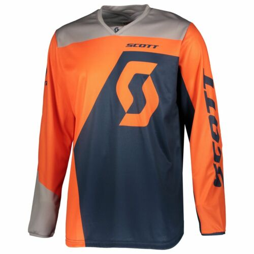 Scott 350 DIRT MX Motocross Jersey/DH Vélo Maillot Orange/Bleu 2019