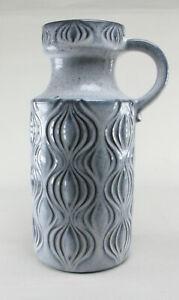 Scheurich-485-26-Zwiebel-Amsterdam-60s-Keramik-Vase-Fat-Lava-blau-wgp-space-age