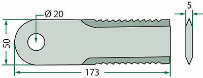 Massey Ferguson Straw Chopper Blade Heavy Equipment Attachments Set Of 10 52500020 Outstanding Features