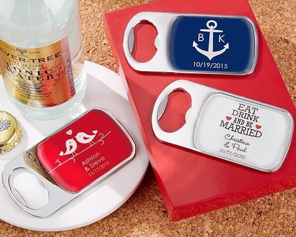 72 Personnalisé Epoxy Dome ouvre-bouteilles Barware Bridal Shower Mariage faveurs