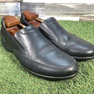 UK9H-Clarks-Confort-A-Enfiler-Mocassins-Smart-Casual-travail-mariage-chaussures-EU43-Large