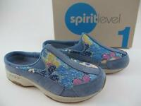 Easy Spirit Traveltime Blue Floral Slipon $70 Womens 6.5 Mules Walking Shoes