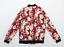 thumbnail 2 - Sky Home Womens Size L Cotton Floral Red Bomber Jacket