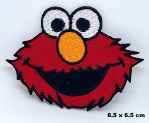 Details about Sesame Street ELMO Big Face Logo Iron/ Sew-on Embroidered  Patch Backpack Badge
