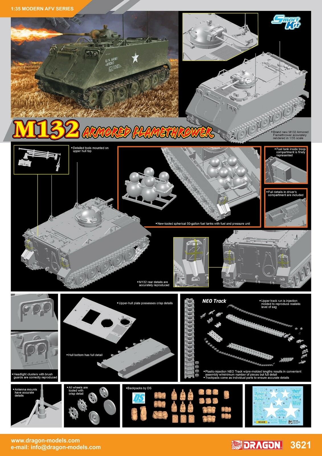 1 35 Dragon US M132 Armored Flamethrower