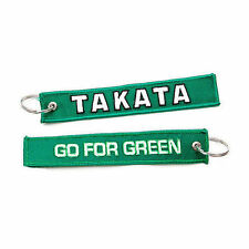 Jdm Racing Green Takata Go For Green Keychain Key Chain Drift Car