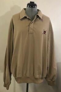 Polo-Ralph-Lauren-Golf-Jacket-Mens-XL-beige-Windbreaker-Pullover-1-4-Button-B7