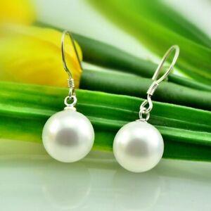 SALE-Damen-8mm-Perlen-Ohrhaenger-Ohranhaenger-Ohrring-aus-echt-925-Sterlingsilber
