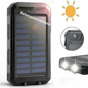 2020 Waterproof Solar Power Bank 2000000mAh Portable External Battery Charger US