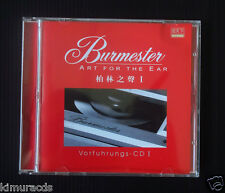 Burmester Vorfuhrungs CD I, Audiophile Must Have CD, Ultra Rare, Sale as is.