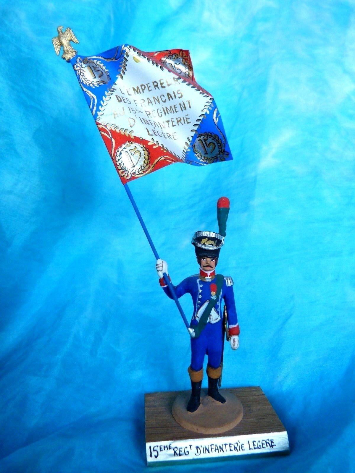 Porte drapeau 1er empire Guy Renaud - 15eme rgt d'infanterie légère  Flag bearer