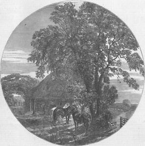 Sussex. Fine Arts. Cart Lodge, Sussex, Antique Print, 1849 Vente En Ligne Du Dernier ModèLe En 2019 50%
