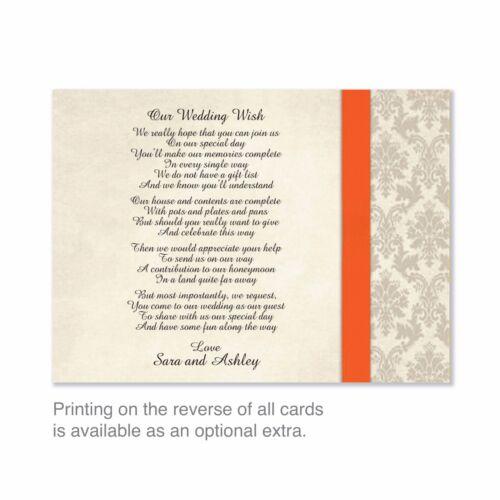 ou de soirée invitations-Z Cerise GOLD DAMAS mariage personnalisé et