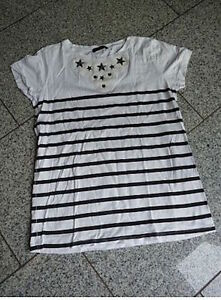 ZARA-W-amp-B-Collection-suesses-T-Shirt-Marine-Look-Gr-M