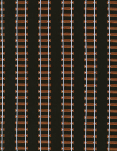 Fat Quarter Train Tracks Railway Cotton Quilting Sewing Patchwork Fabric