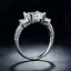 1-75Ct-Radiant-Cut-Diamond-Accent-Solitaire-Engagement-Ring-18K-White-Gold-Over thumbnail 4