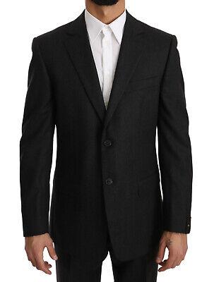 NEW $700 DANIELE ALESSANDRINI Suit Blue Striped Two Button Slim Fit IT48 US38