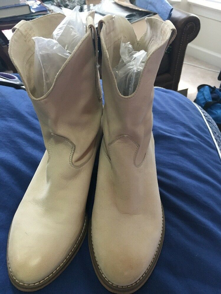 Croma vintage women's ankle boots Light Beige leather size 6M