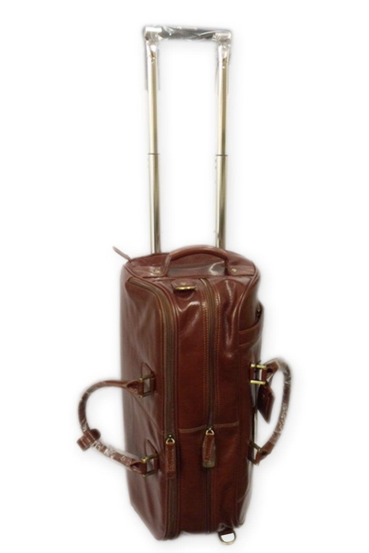 0486eddd7 Borsone da viaggio in pelle su ruote & TROLLEY manico manico manico Cognac  colore (76660) f98e05