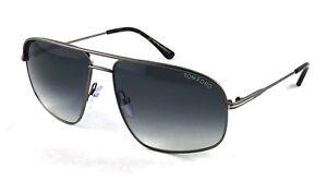 60984daab358 TOM FORD Justin TF467 TF 467 13B Silver grey gradient sunglasses ...