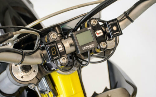 BLACK Healtech Gear Indicator /& Shift Light Pro Handlebar Mount
