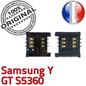 ORIGINAL-Samsung-Galaxy-Y-GT-s5360-Connecteur-Carte-SIM-a-souder-Contact-Lecteur