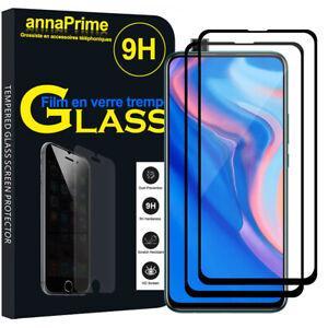 2-Vitre-Film-Verre-Trempe-Protecteur-d-039-ecran-NOIR-Huawei-P-Smart-Z-2019-6-59-034