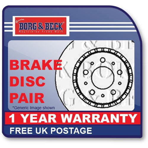 fits PSA C-ZERO,ION 10//10 Front Axle BBD5439 BORG /& BECK BRAKE DISC PAIR
