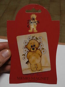 Rare refrigerator magnet SARAH JANE BEARS COLLECTION calamita frigo collezione