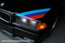 BMW M3 Motorsport Three Color Stripe Decal E30 E36 E46 - Original and Correct