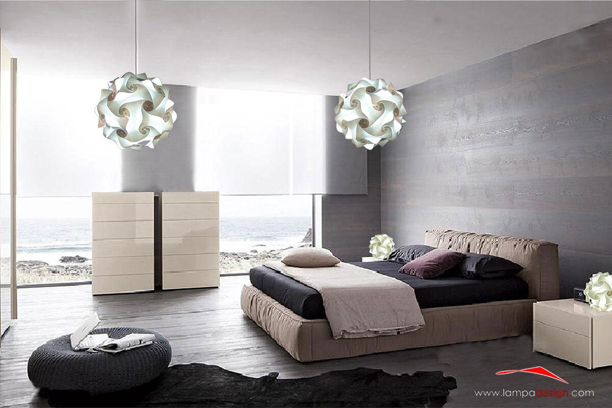 Lampadario bianco 35 cm Lampada Puzzle Puzzle Lampada design camera salone Luce ingresso bagno 55938e