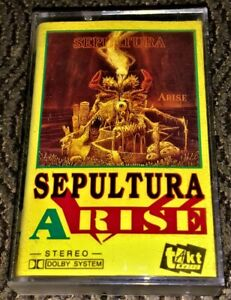 Sepultura-Arise-Cassette-Tape-Plays-Well-Black-Thrash-TAKT