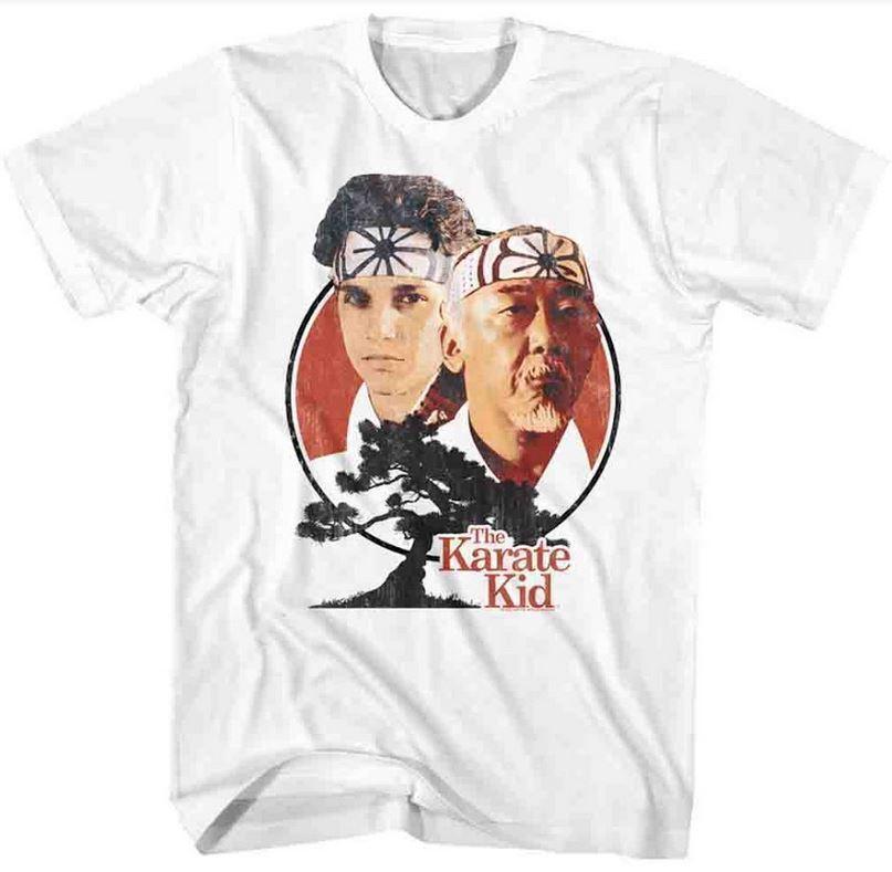 Karate Kid Daniel Larusso Mr Miyagi Bonsai Tree Adult T Shirt