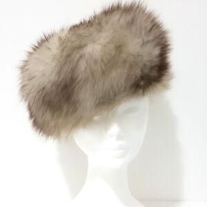 Dettagli su Cappello Pelliccia VOLPE Pelo Lungo TGL 55 bianco sfumato  castano colbacco G154 f101fd1c969a