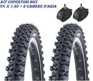 2-GOMME-COPERTONI-PNEUMATICI-24-X-1-95-2-CAMERE-ARIA-MTB-BICI-BICICLETTA-BIKE