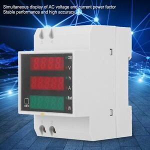 D52-2047-DIN-Rail-Multi-Function-Meter-Current-Volt-Power-Factor-Meter-200-450V
