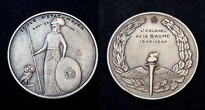 DUCI ET MILITI Médaille Ecole d'Etat-Major. Attribuée, 1945-47. Argent, +boite