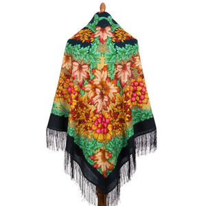 1813 Pavlov lana Folklore 14 foulard 146x146 Posad PosadPavlovo russo n80wPOk