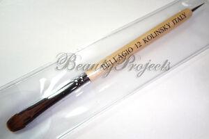 Nail-Art-Kolinsky-French-Brush-12-Tan-with-Dotting-Pen-High-Quality-Nail-Brush