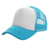Unisex Mesh Sport Baseball Cap Adjustable Curved Visor Summer Golf Trucker Hat