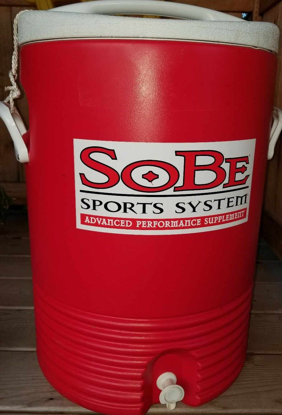 Sobe sports systems 10 Gallon Drink Cooler igloo vtg Houston Texas  double sided
