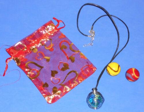 Länge 25-28 cm Murmel Kette Glasmurmel Halskette mit 3 Glaskugeln zum Wechseln