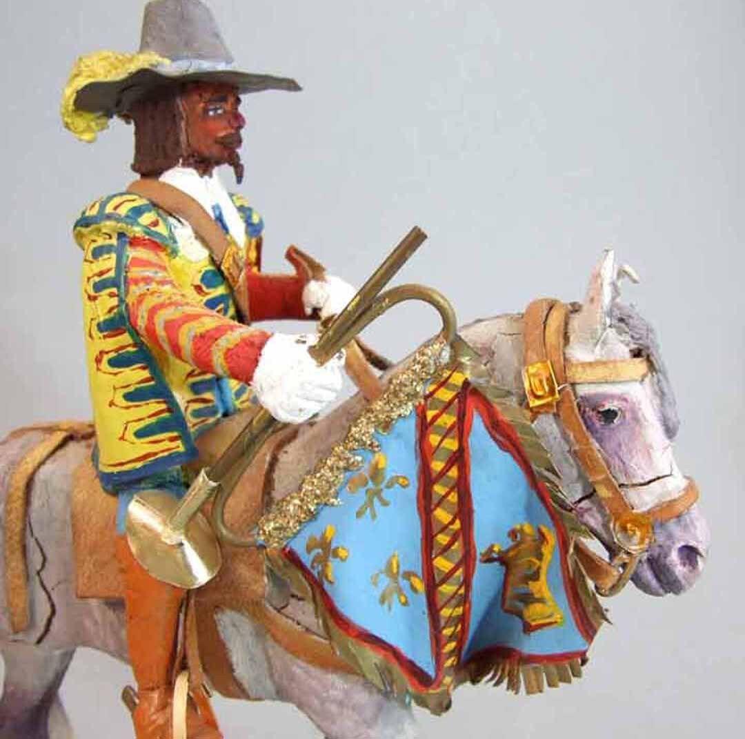 LEMAITRE Figurine  TROMPETTE A CHEVAL 1627 / / /  soldier jouet ancien a7fd47